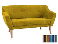 Мягкий диван Signal Bergen 2 жёлтый