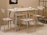 Комплект Signal Modus дуб сонома, 1 стол + 4 стула
