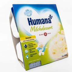 Продукт кисломолочный HUMANA с бананом и натуральными пробиотиками (галактоолигосахаридами) для детей от 6 4 ш