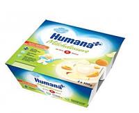 Продукт кисломолочный HUMANA с яблоком и абрикосом, натуральными пробиотиками (галактоолигосахаридами) 4 шт. по 100 г