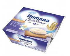 Пудинг манный с печеньем HUMANA для питания детей от 8 месяцев (массовая часть жира - 3,4%) 4 шт. по 100 г