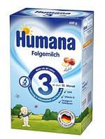 Сухая детская молочная смесь для дальнейшего кормления «HUMANA 3 с пребиотиками галактоолигосахаридами (ГОС) и