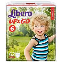 Подгузники детские Libero Up&Go 6 (13-20 кг) 62 шт.