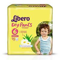 Подгузники детские Libero Dry Pants 6 (13-20 кг) 16 шт.
