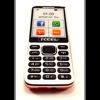 Мобильный телефон TCCEL 360, интернет, крупный шрифт, 2 сим карты