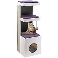 Ferplast (Ферпласт) Tiger Мебель для кошек домик с когтеточкой