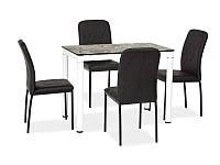 Стеклянный стол Signal Damar белый/черный