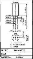 Транзистор биполярный стандартный 2SA1315 TOS TO-92mod