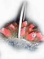 """Букет из конфет""""Свадебная корзинка"""""""