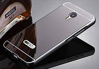 Чехол бампер для Meizu M3 Note зеркальный Брак