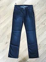 Джинсы женские прямые классические темно синего цвета завышенная талия высокая посадка модные Lacarino, фото 1