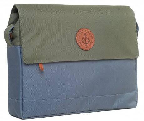 """Современная сумка для ноутбука диагональю 12-14"""" GIN БИФИТЕР-gray khaki"""