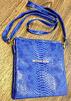 Сумка клатч Michael kors синяя под рептилию