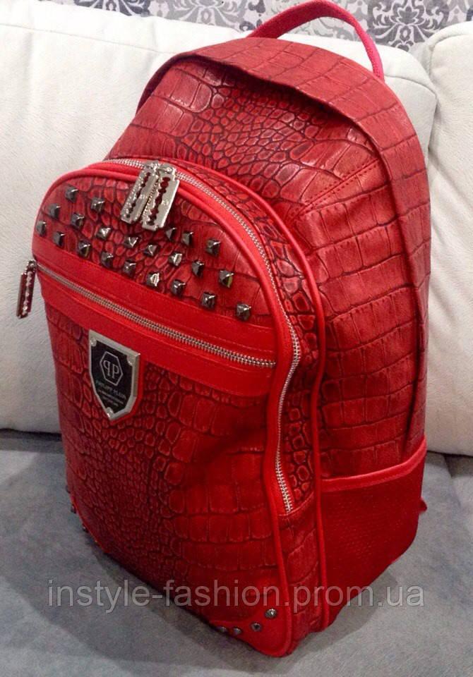 Рюкзак Philipp Plein красный