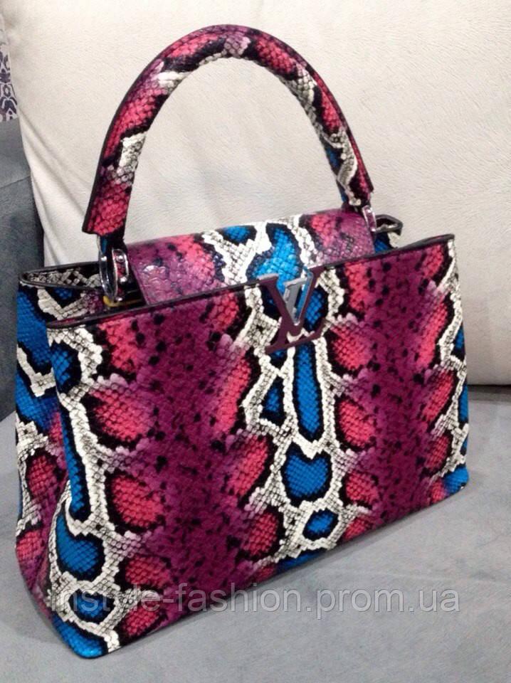 Сумка Louis Vuitton розовая под рептилию