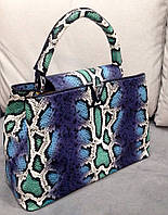 Сумка Louis Vuitton синяя под рептилию