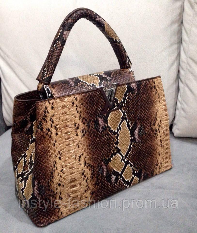 Сумка Louis Vuitton коричневая под рептилию