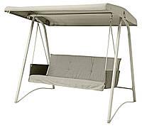 Садовый диван-качели с накрытием 220x134см основа сталь, искусственный ротанг