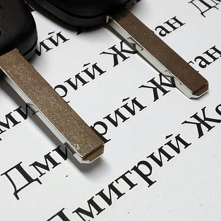 Автоключ для PEUGEOT 107 (Пежо), 2 кнопки, чип ID46, PCF 7961, 433 Mhz, лезвие VA2, фото 2