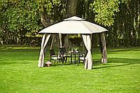 Павильон шатер с антимоскитной сеткой 3x3м стальной каркас, боковые панели, водонепроницаемый