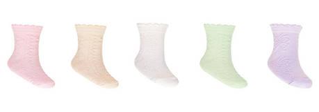 Носки однотонные с узором для девочки, фото 2
