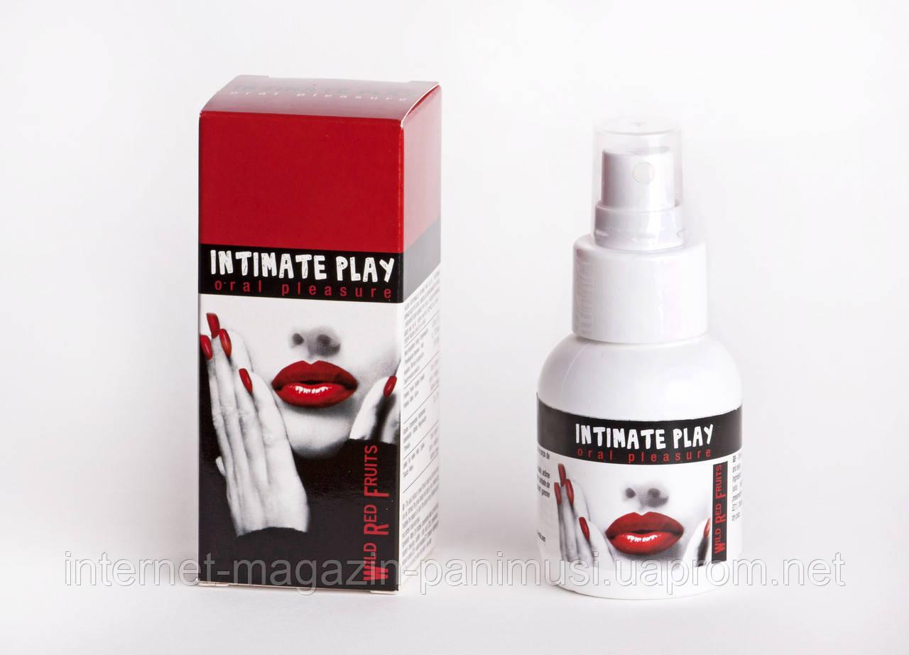Спрей для орального секса 50 мл вкус ягод INTIMATE PLAY ORAL SPRAY 50 ML - RED FRUIT