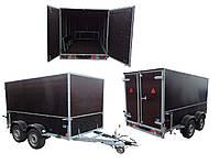 Прицеп фургон 3.1м х 1.55м х 1,8м. Тормоз наката 3т! Внутреннее начинение - под заказ!