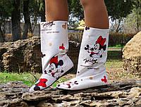 Женские тканевые сапоги с принтом Микки Мауса