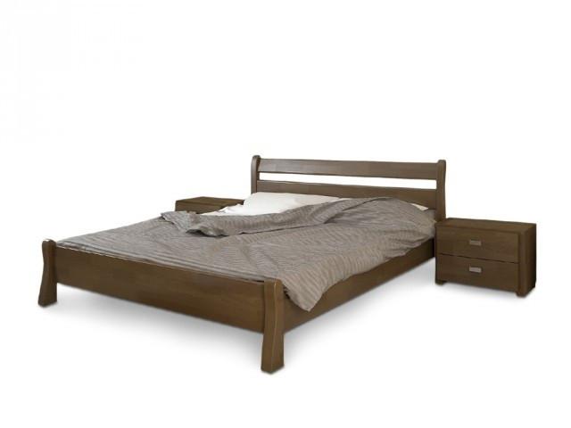 Ліжко односпальне з натурального дерева в спальню/дитячу Венеція (Сосна, Бук) Арбор Древ