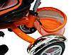 Детский трехколесный велосипед-коляска Maxi Trike оранжевый, надувные колеса, фото 4