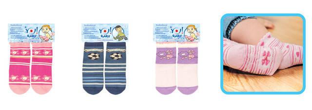 Носки с тормозами (силиконовая подошва) для девочки, фото 2