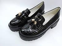 Красивые  туфли на тракторной подошве  для девочки 30-36 р