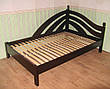"""Кровать двуспальная из серии """"Радуга"""". Массив - ольха, береза, дуб., фото 5"""