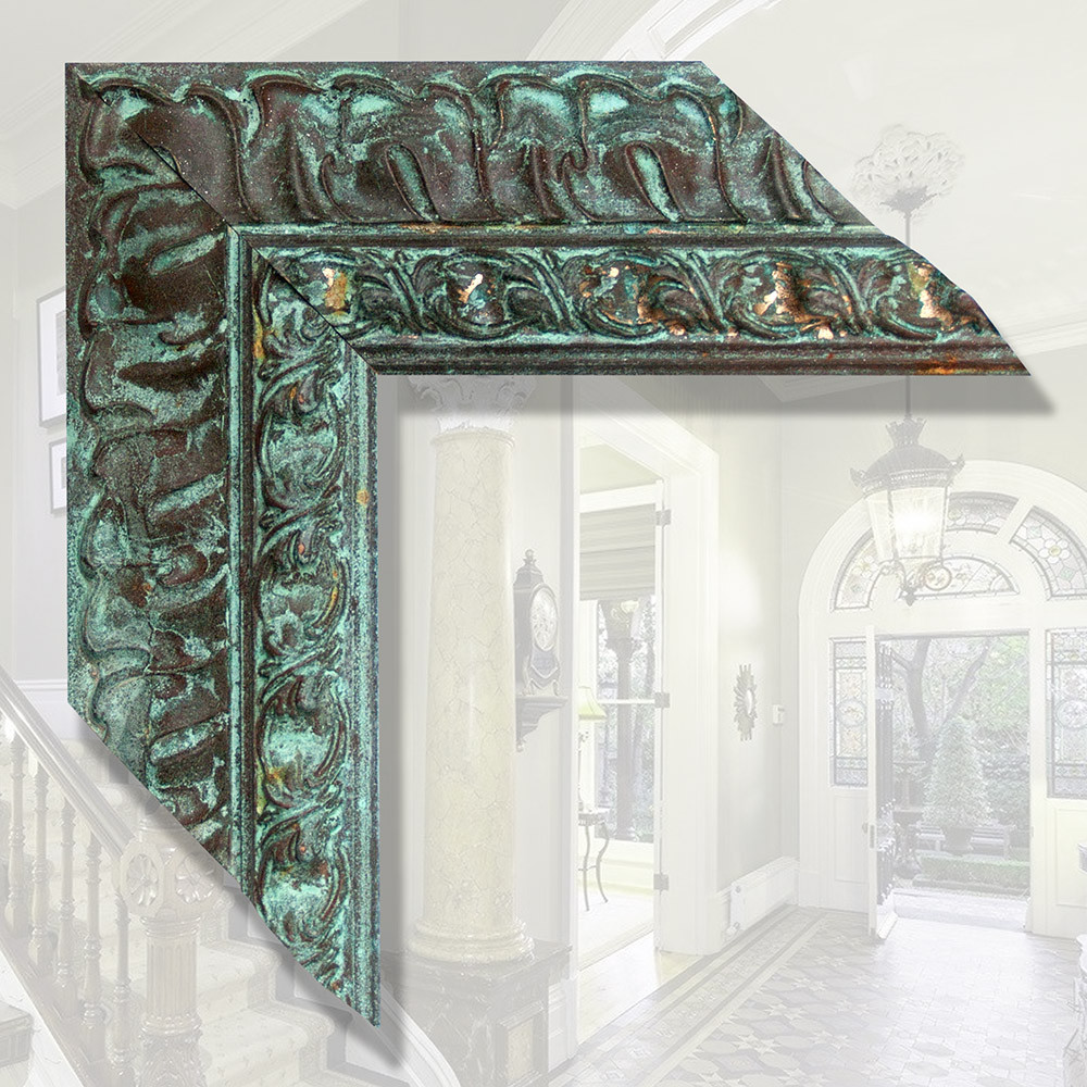Зеркало в итальянской деревянной раме 88мм