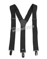 Подтяжки  черные с клипсой MIL-TEC Black, 13184002