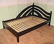 """Кровать односпальная из серии """"Радуга"""". Массив - ольха, береза, дуб., фото 5"""