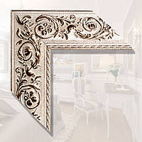 Зеркало в деревянном багете 89мм