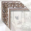 Зеркало в деревянной раме для ванной, спальни, прихожей 89мм