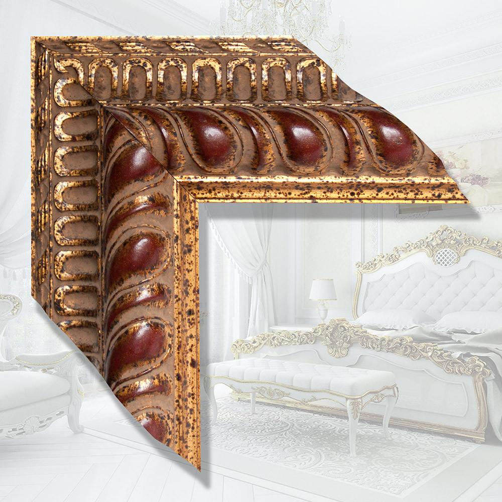 Зеркало в деревянном багете 122мм