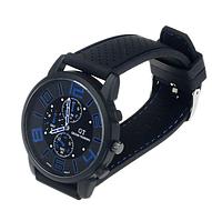 Мужские наручные часы GT Grand Touring большим циферблатом 4см (с синими цифрами)