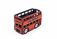 """Подставка настольная под ручки и карандаши """"Автобус Лондон"""""""