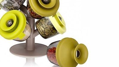 Набір для зберігання спецій і трав Spice Rack з силіконовими кришечками