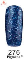 Гель-лак F.O.X. № 276 синий с крупными синими блестками  6 ml