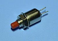 Кнопка без фиксации DS-402 OFF-(ON) 0.5A 125V красная