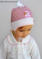 Детская шапка для малышки с помпоном 6-18 мес., фото 1