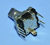 Энкодер с кнопкой EC11 без резьбы, низкий, ручка срез 12мм  Soundwell