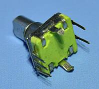 Энкодер с кнопкой EC11 без резьбы, низкий, ручка срез 12мм, 30бит  Тайвань