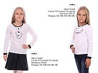 Блуза для девочки Школьная. Размер 122 - 146 см