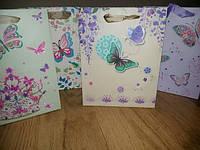 Подарочные пакеты Бабочки 18*23*10