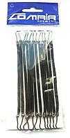 Резинки для волос с крючками, черные 12шт.